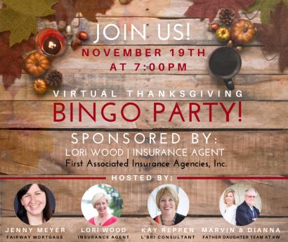Virtual Thanksgiving Bingo Party!