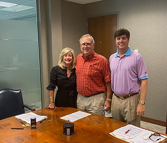 CLOSING DAY—SEALED THE DEAL ON NEW OFFICE FOR ATTORNEYS
