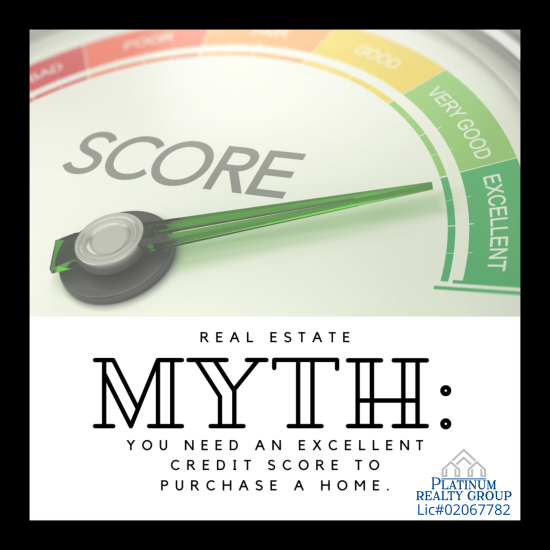 CREDIT SCORE MYTH ABOUT BUYING HOMES