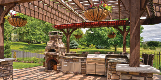 Create a beautiful outdoor cooking space for relaxing and entertaining all summer long.