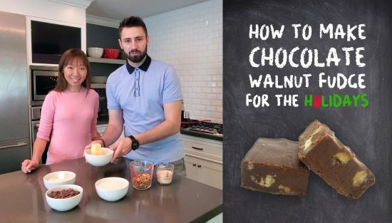 How to make holiday chocolate walnut fudge