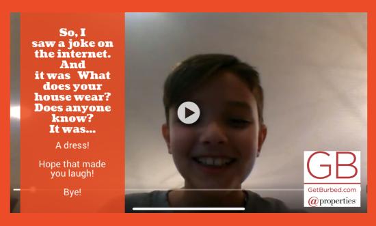 GetBurbed Kids Joke Challenge