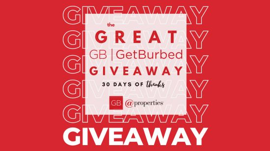The Great GetBurbed Giveaway- 30 Days of Thanks!