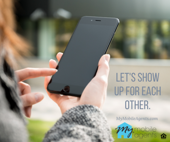 Let's show up for each other.