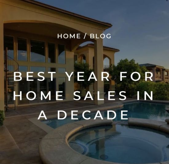 Best Year for Home Sales in a Decade