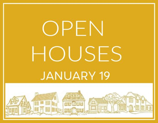 Open Houses Sunday, January 19th