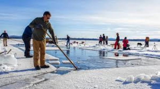 Ice Harvesting for Summer Camp on Squam Lake