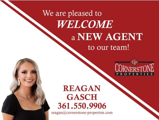 Welcome Reagan to the Cornerstone Team!