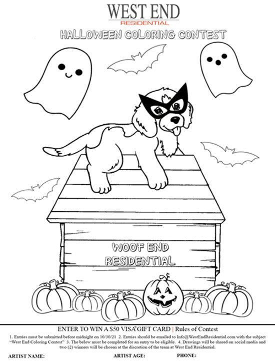 West End | Halloween Coloring Contest
