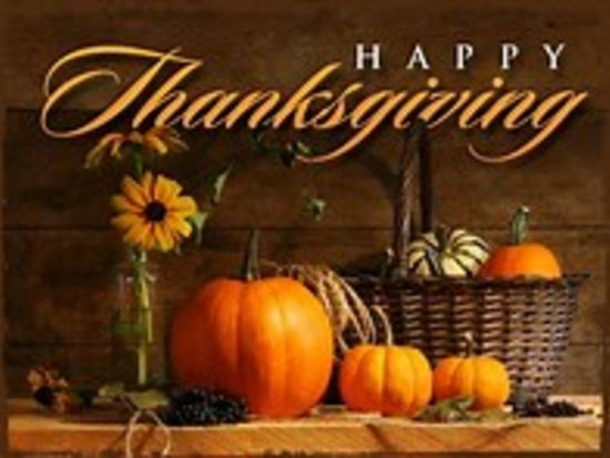 Happy Thanksgiving!  Wishing you a safe & healthy holiday!
