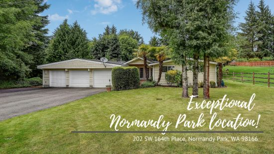 Exceptional Normandy Park location!