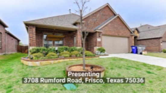 3708 Rumford Road, Frisco, Texas 75036