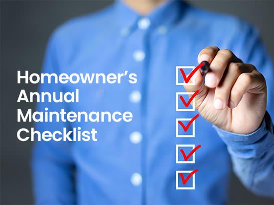 Homeowner's Annual Maintenance Checklist