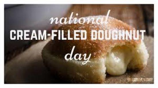 National Cream-Filled Donut Day – September 14