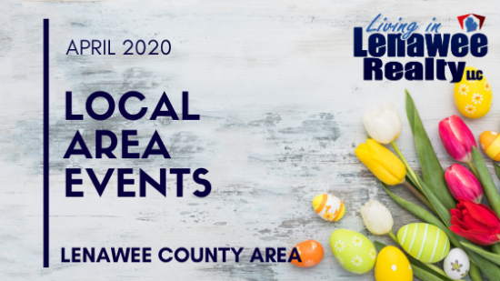 LENAWEE COUNTY APRIL 2020 EVENTS