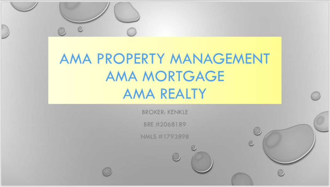 AMA Property Management ~ AMA Realty ~ AMA Mortgage