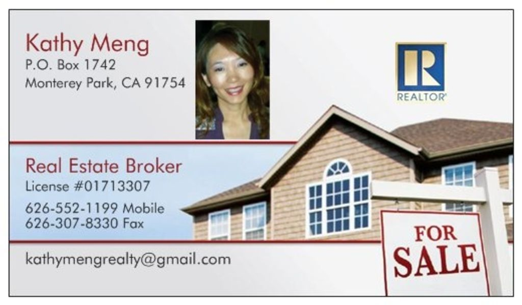 Kathy Meng, Broker, #01713307