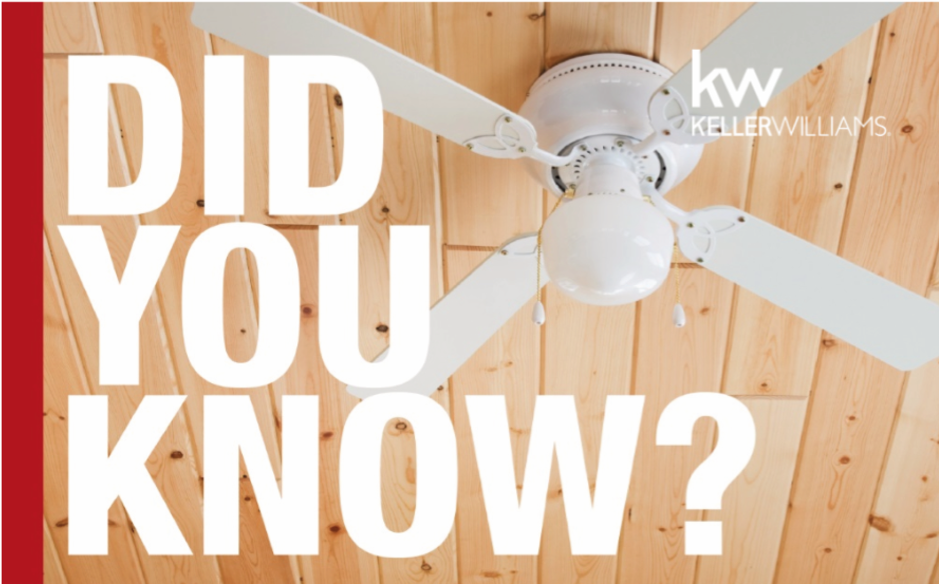 Did you know? Ceiling fans save money!