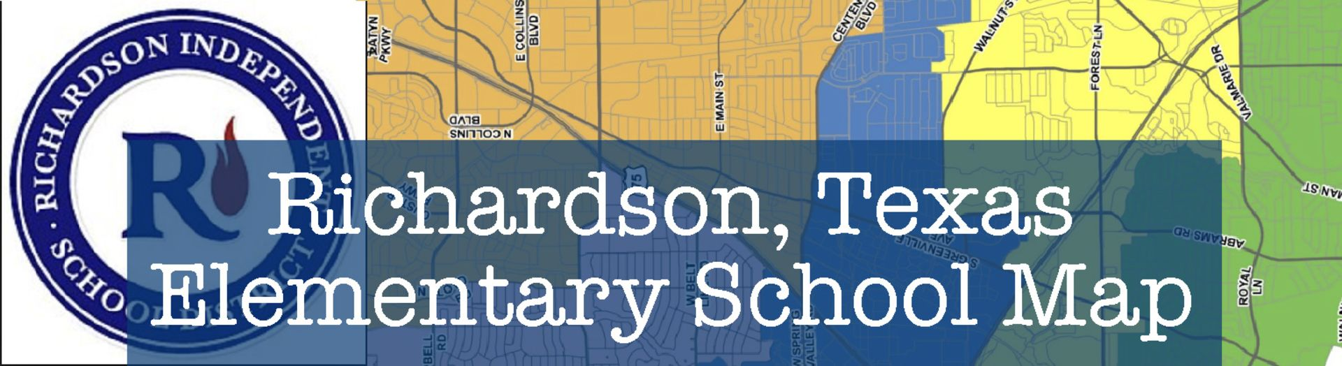 Map of Richardson TX Elementary Schools