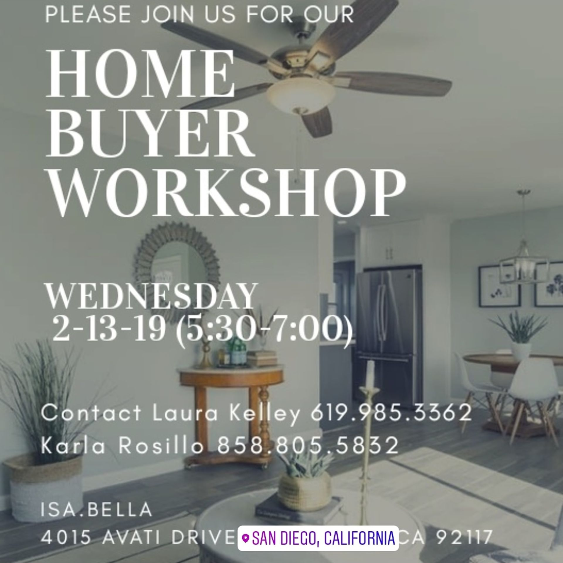 Home Buyer Workshop – February 13th, 2019