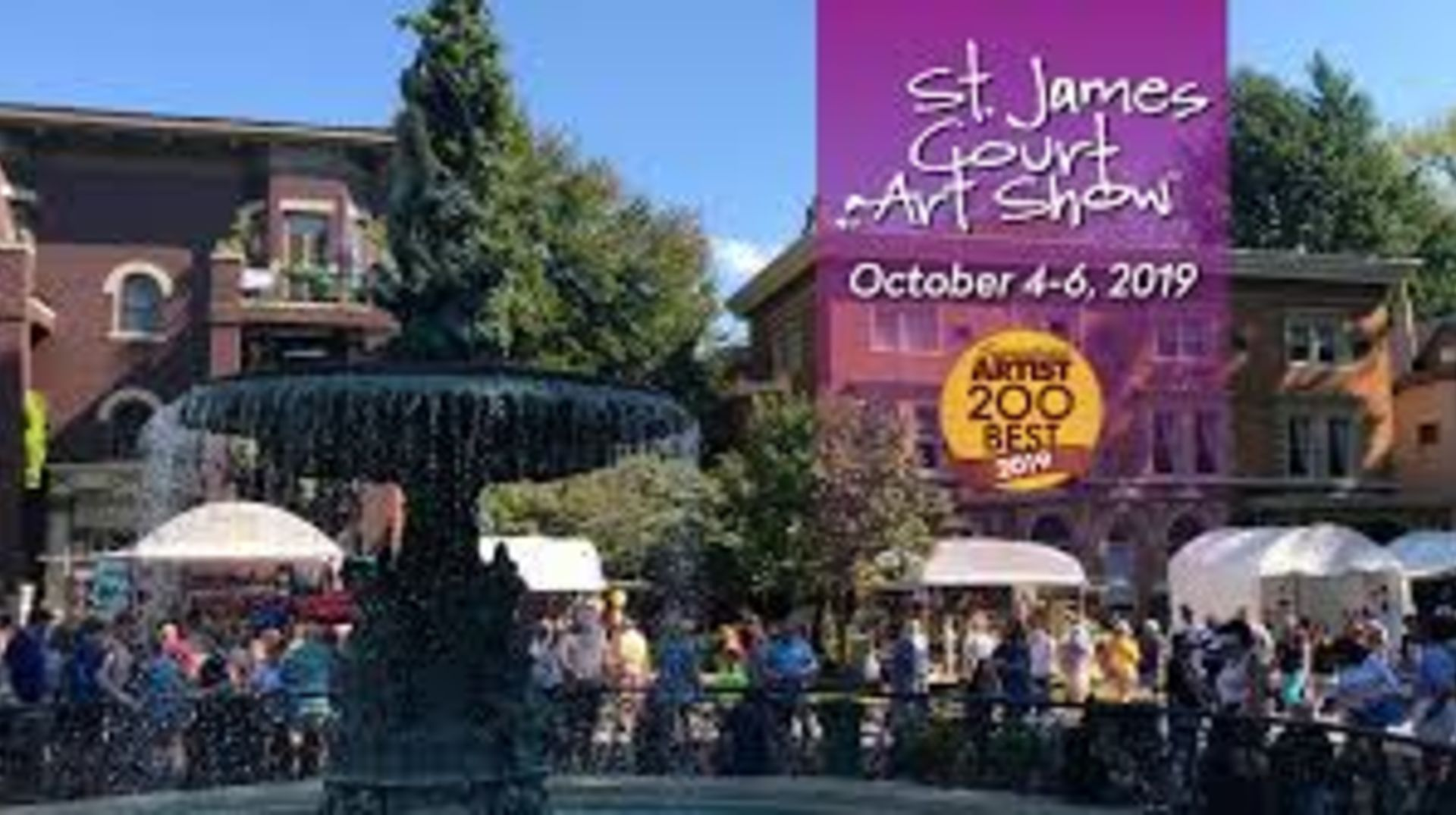 St James Art Fair coming October 4, 5 & 6