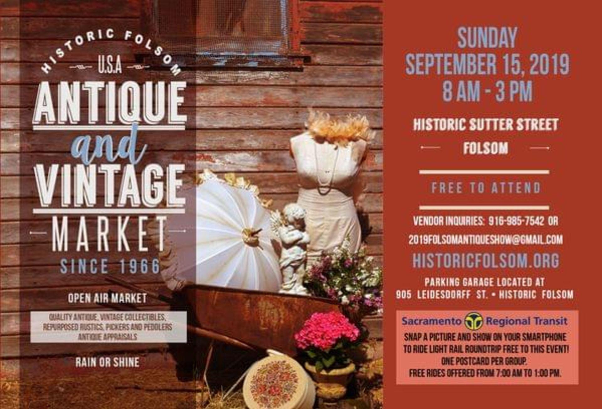 Folsom Antique and Vintage Fair Market
