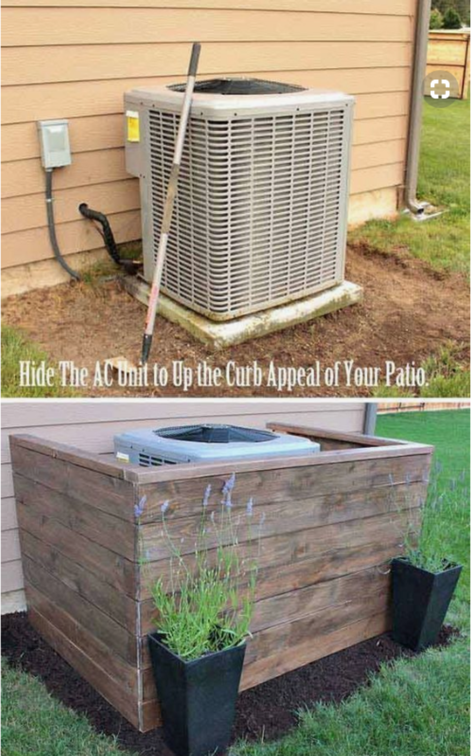 Hide Your A/C or Trash Containers