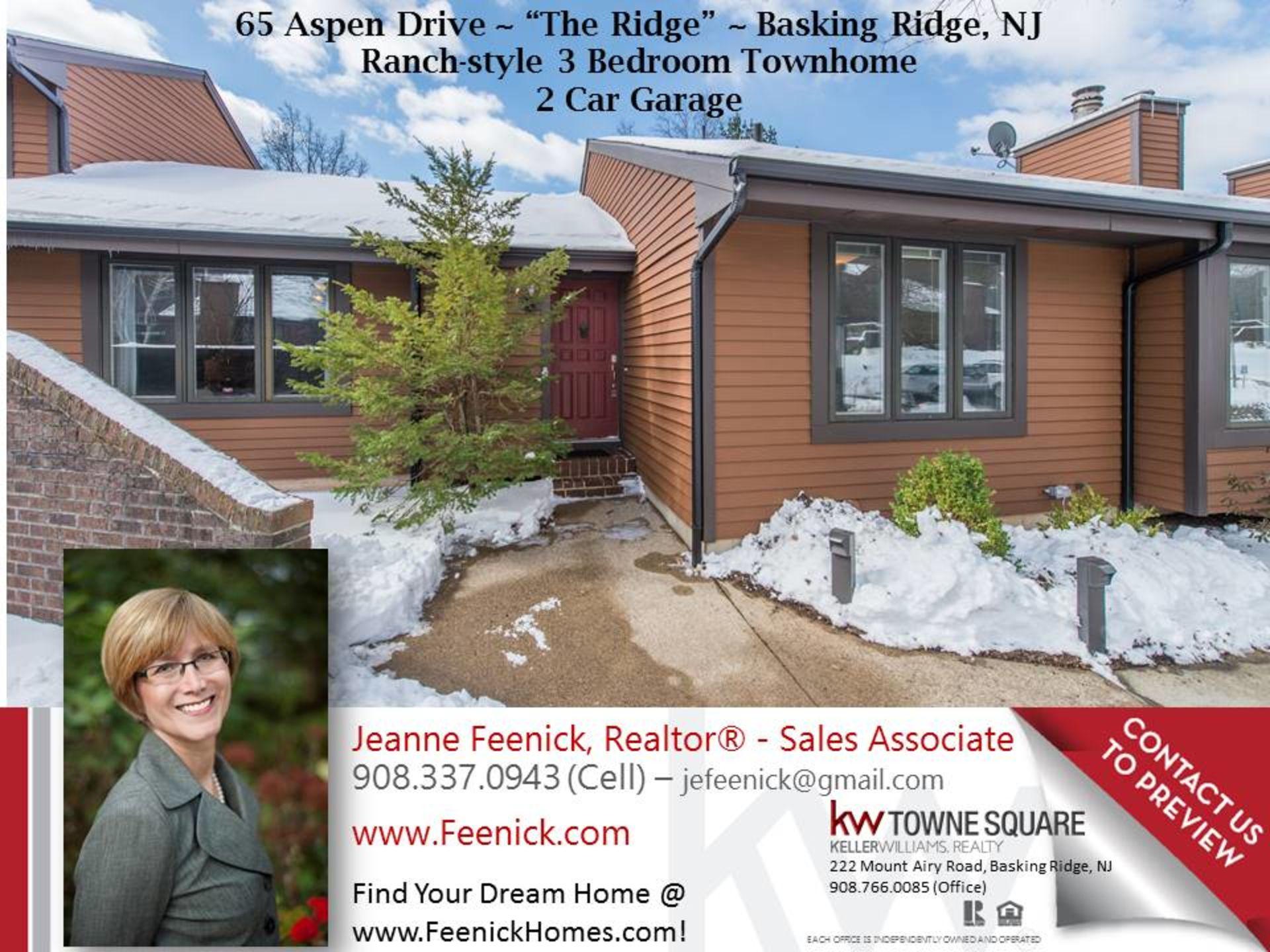Two fantastic new listings in Basking Ridge