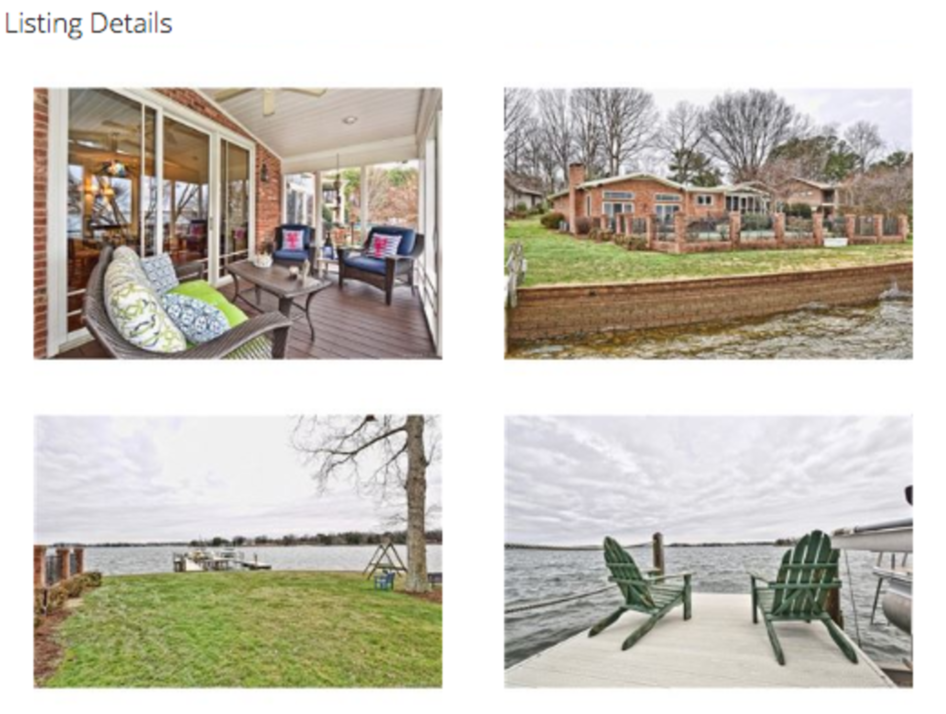Cornelius Lake Norman Charming Waterfront Home