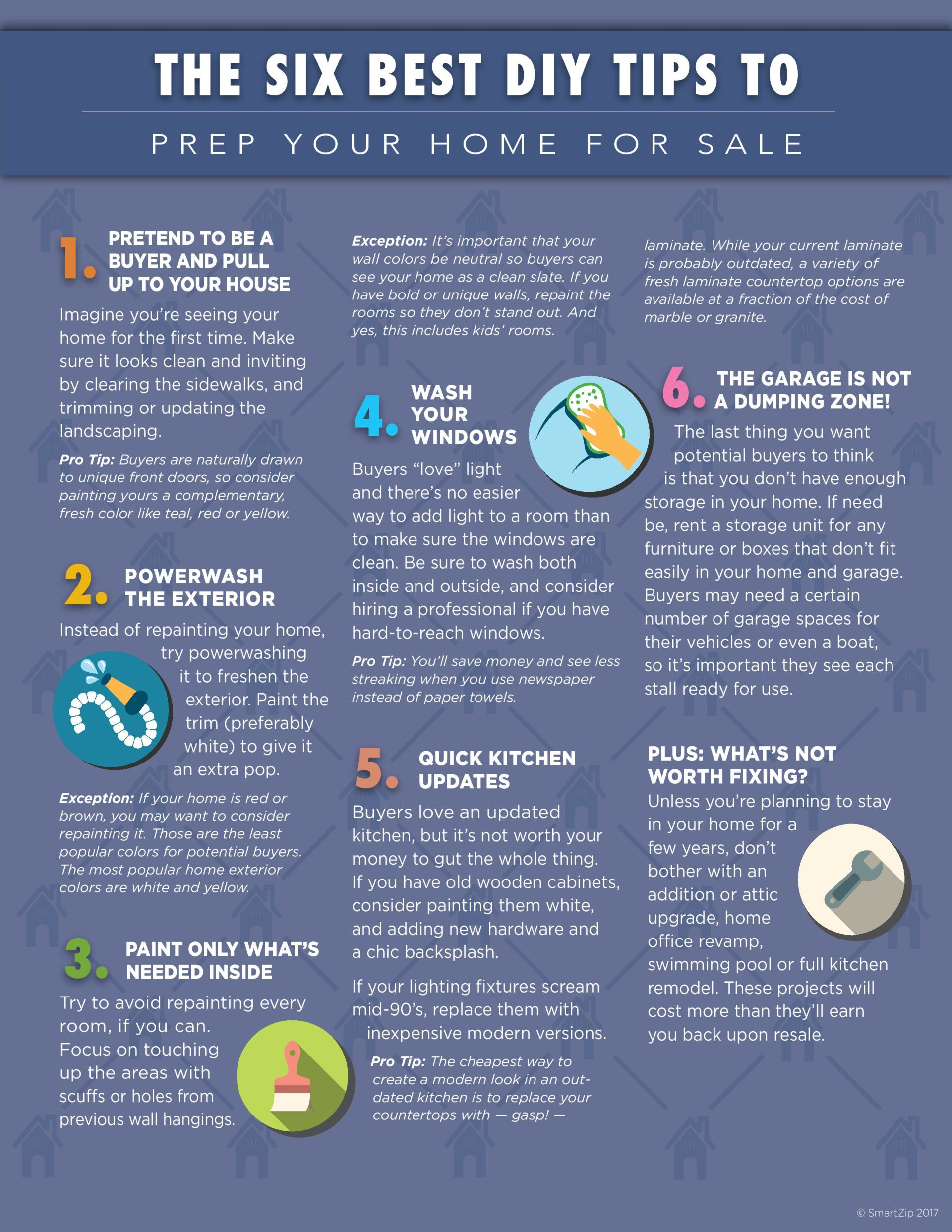 The Six Best DIY Tips to Prep Your Home for Sale