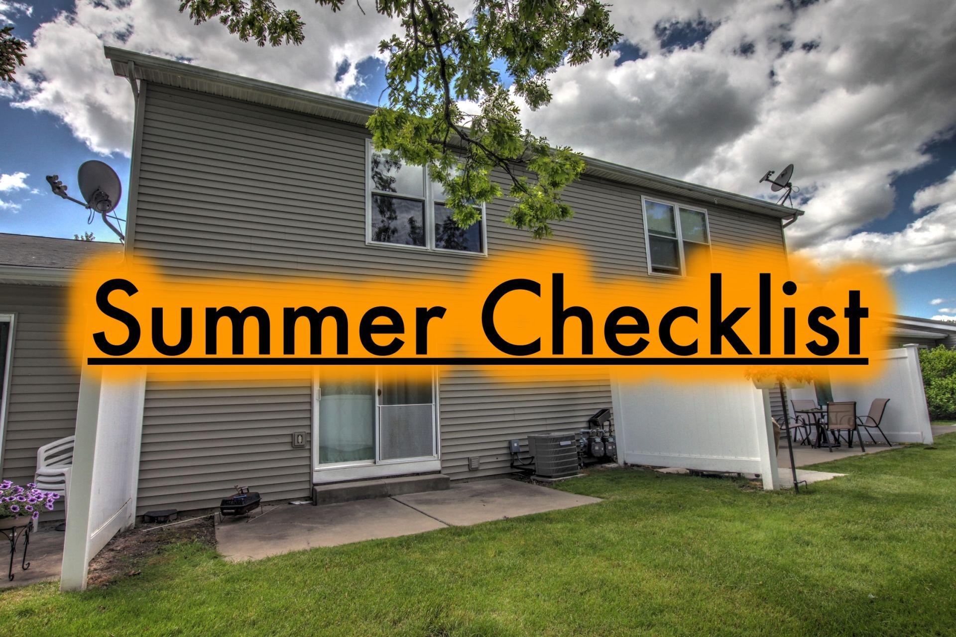 Midsummer Home Maintenance