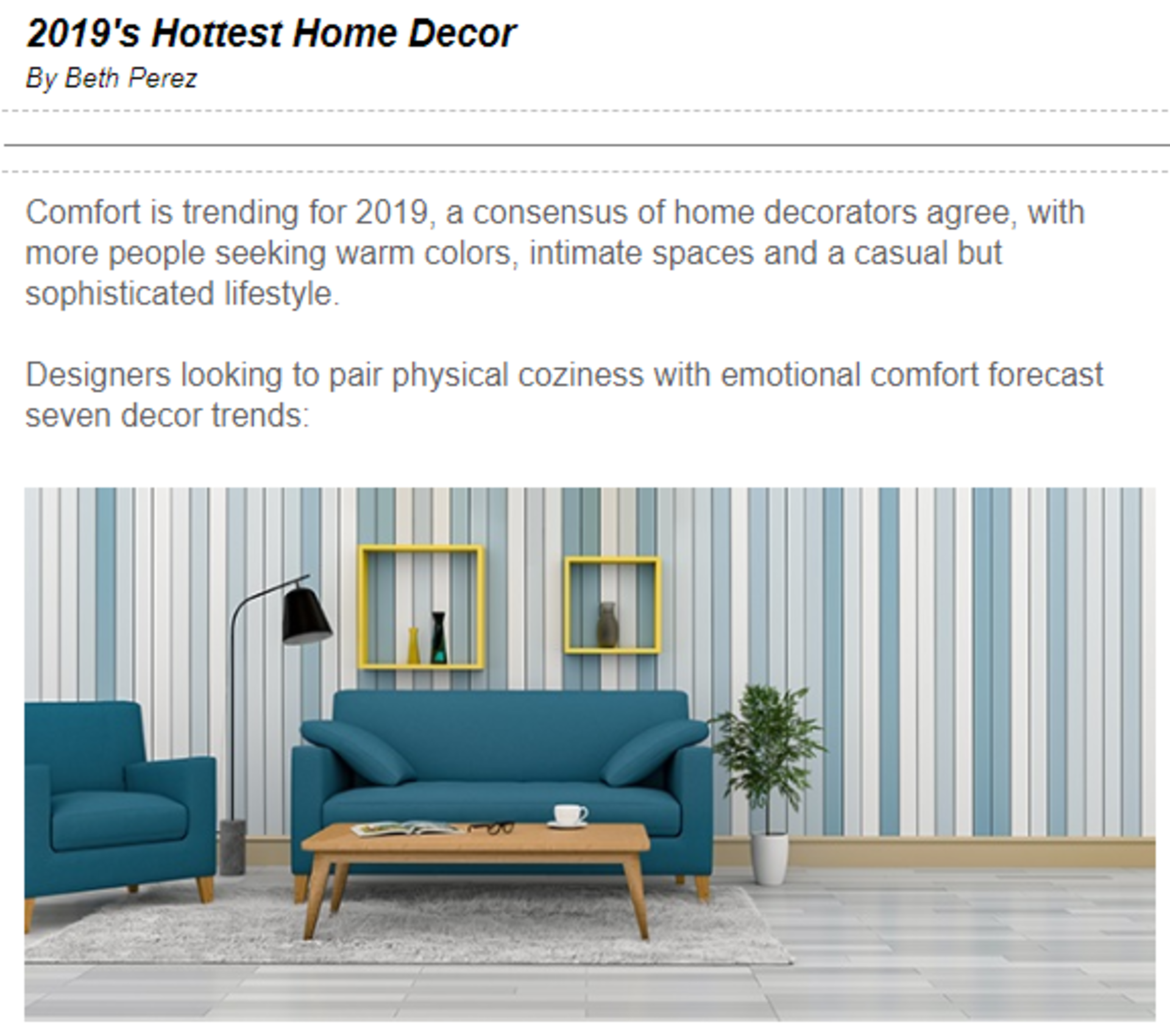 2019's Hottest Home Decor