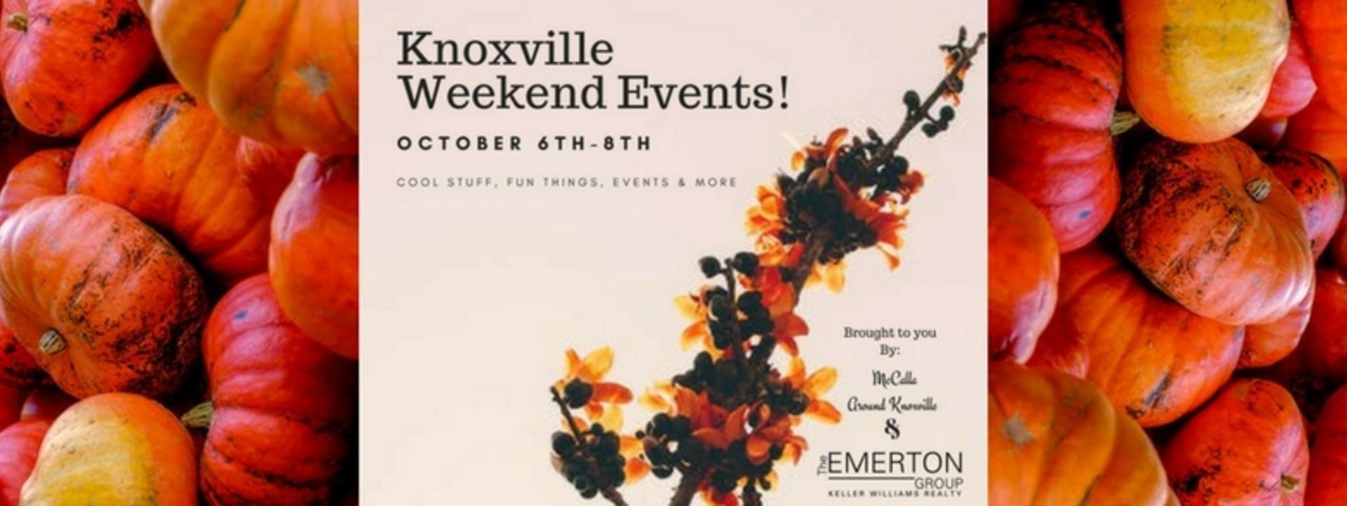 Weekend Events October 6th-8th