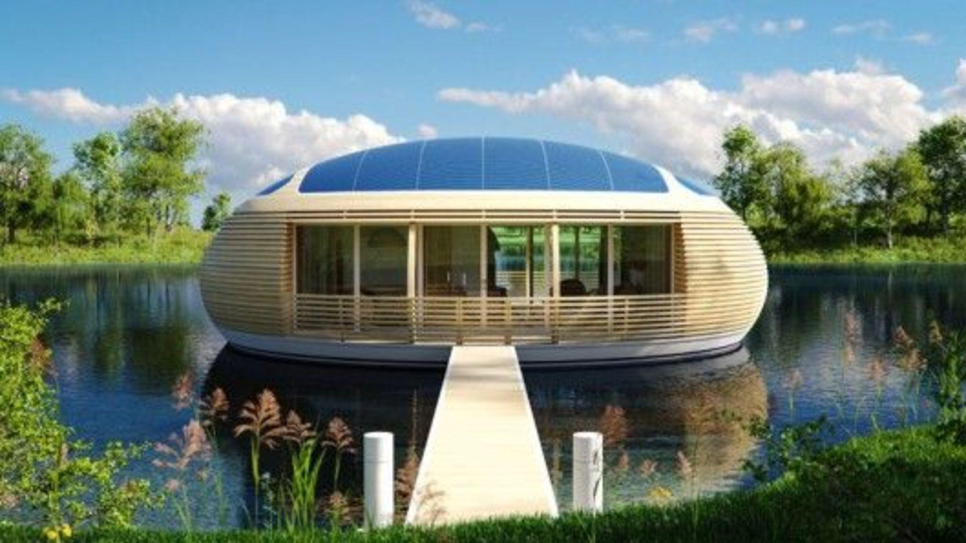 Floating Solar-Powered House