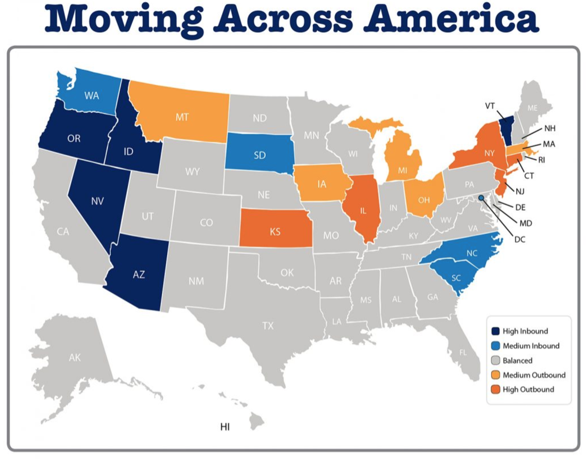 Where Did Americans Move in 2018?