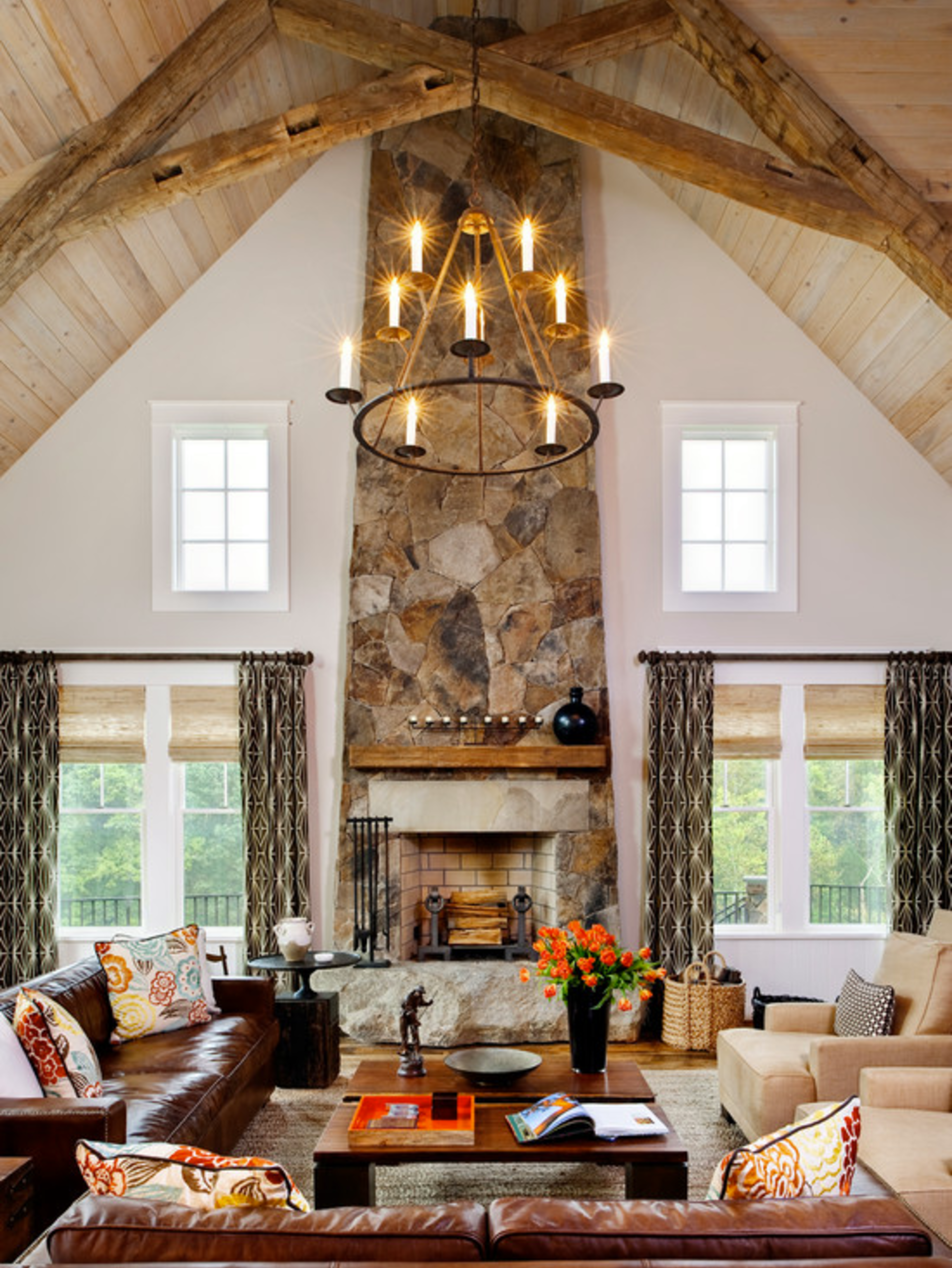 What do you think of the vaulted ceiling in this house?