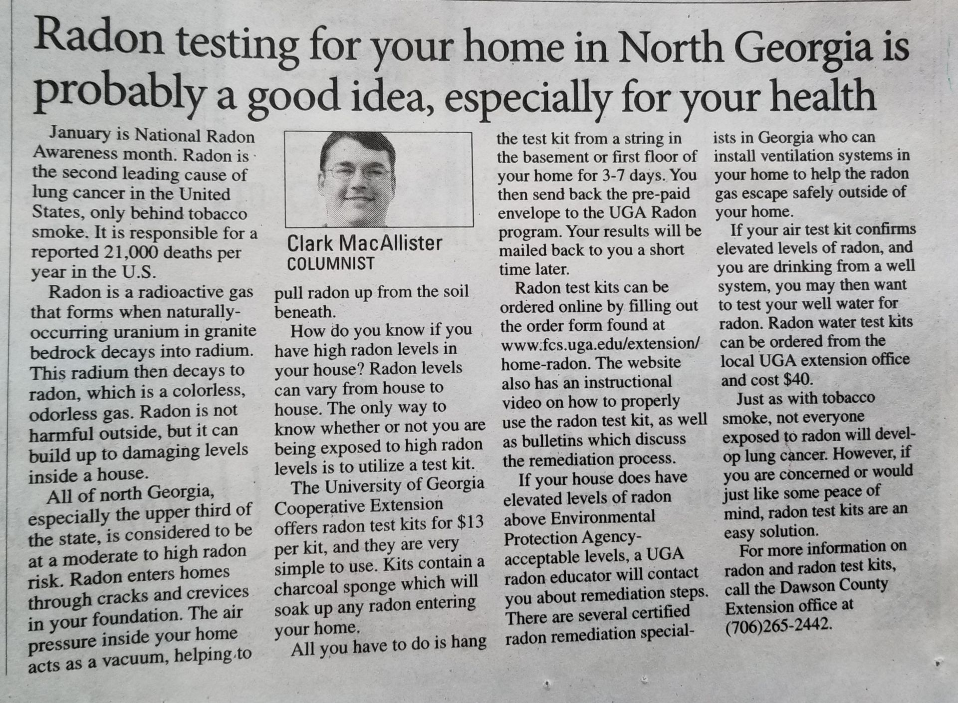 Testing Your North Georgia Home for Radon