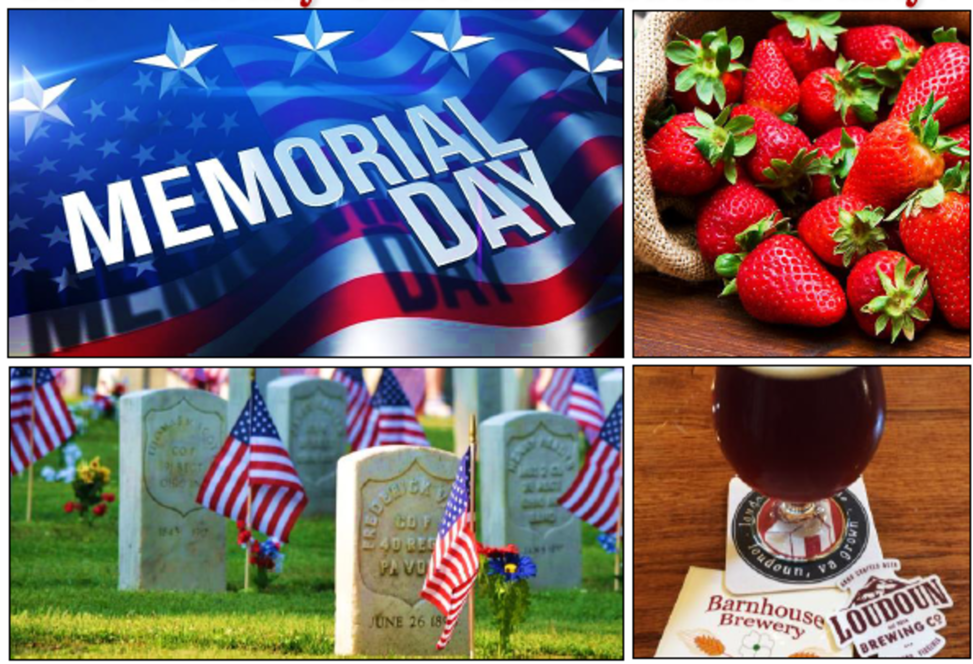 Schulien and Associates' Weekend Guide: (Memorial Day 2018 Edition