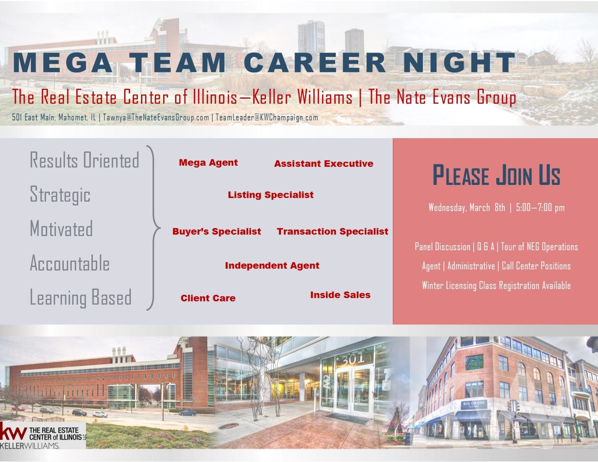 The Nate Evans Group Career Night
