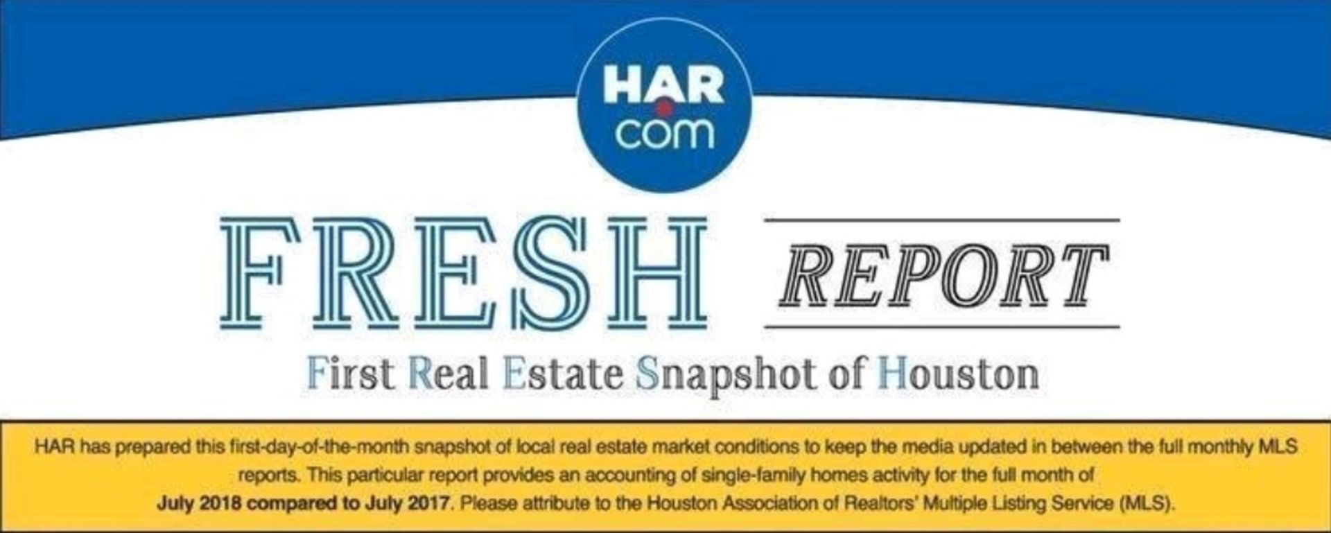 Houston Real Estate Snapshot for July 2018