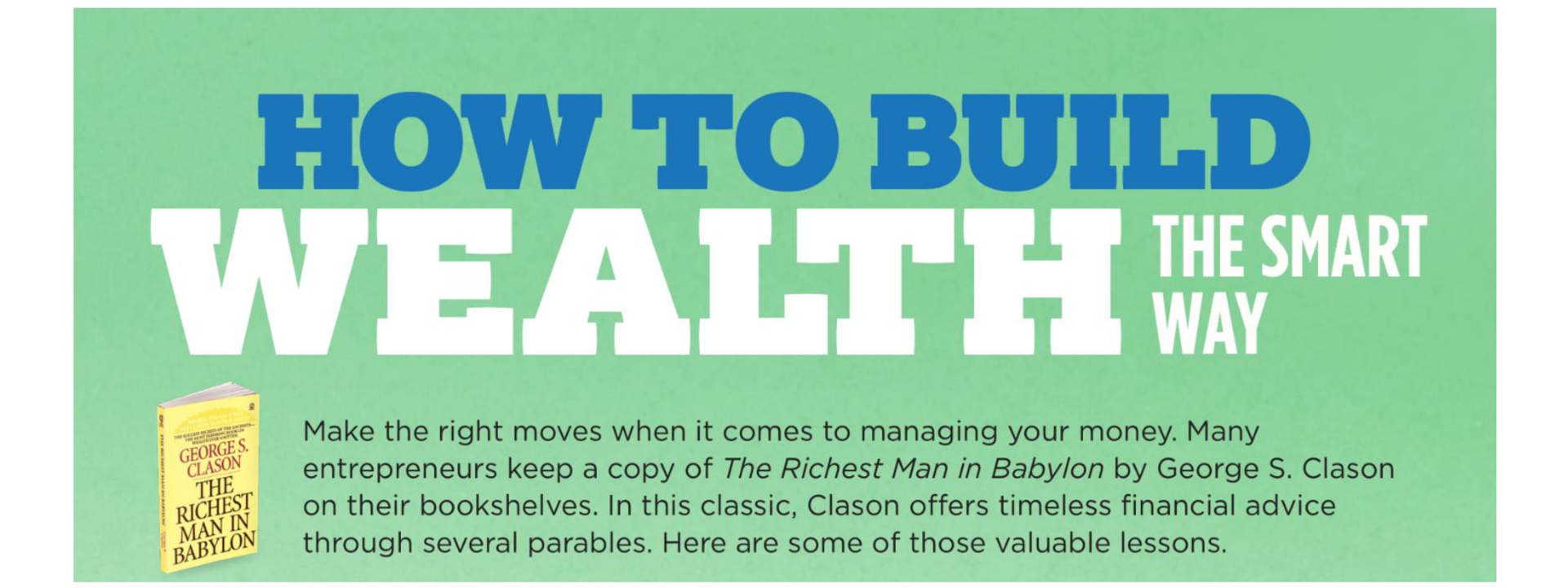 How to Build Wealth the Smart Way