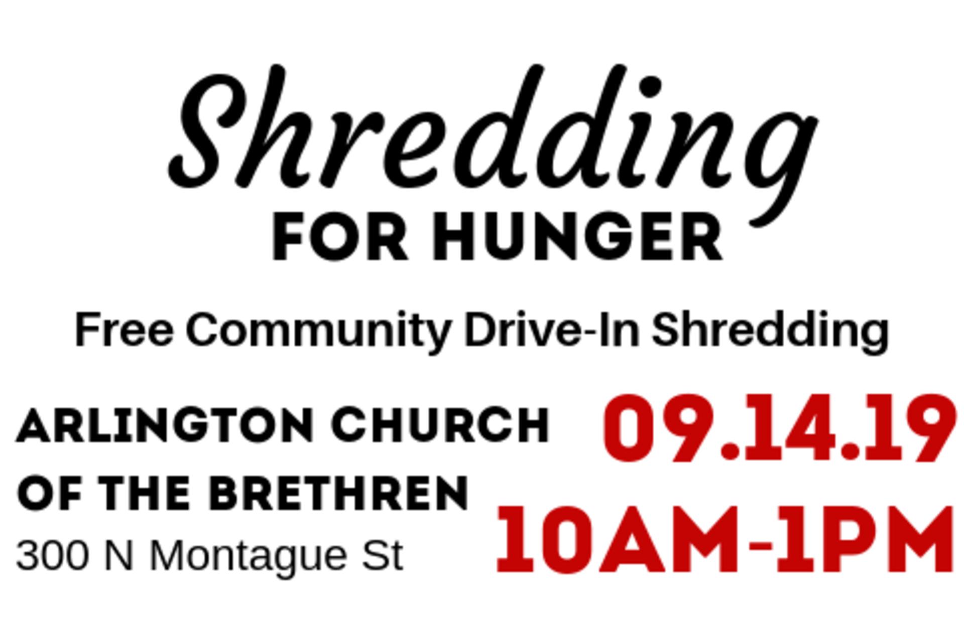 2019 Shredding for Hunger Community Impact