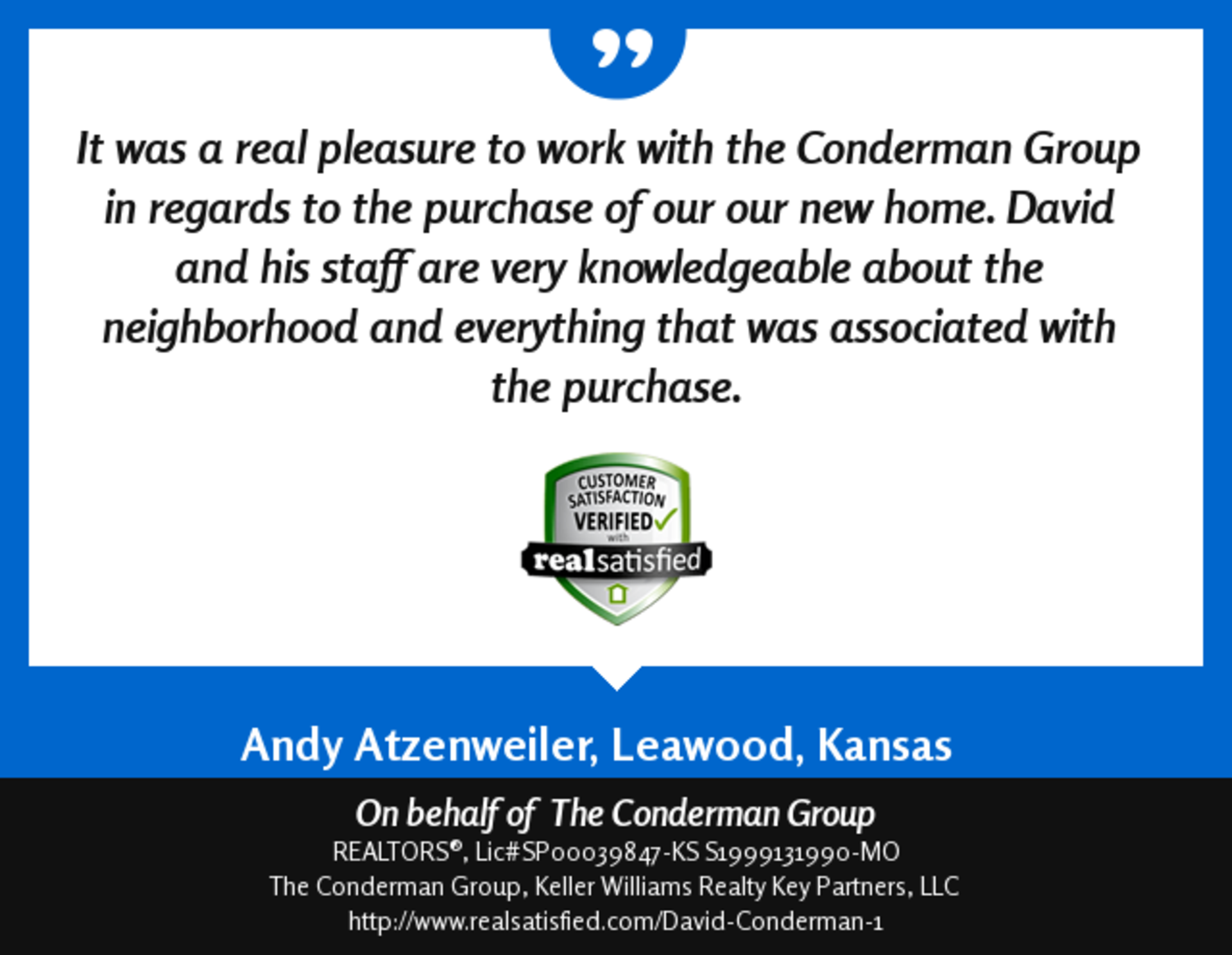 David and his staff are very knowledgeable …
