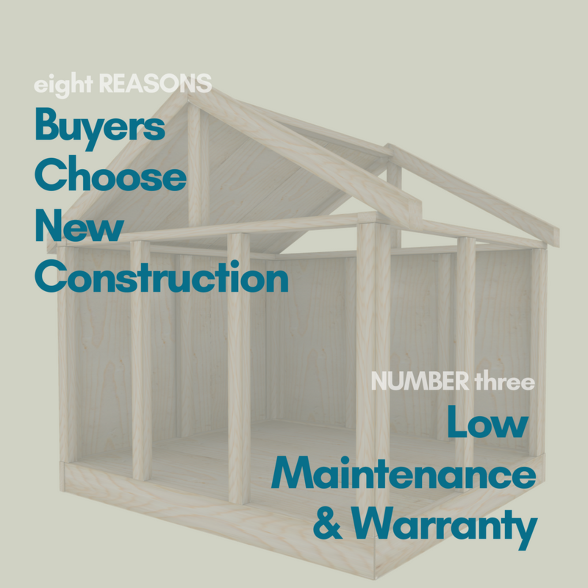 8 REASON BUYERS CHOOSE NEW CONSTRUCTION – Low Maintence and Warranty