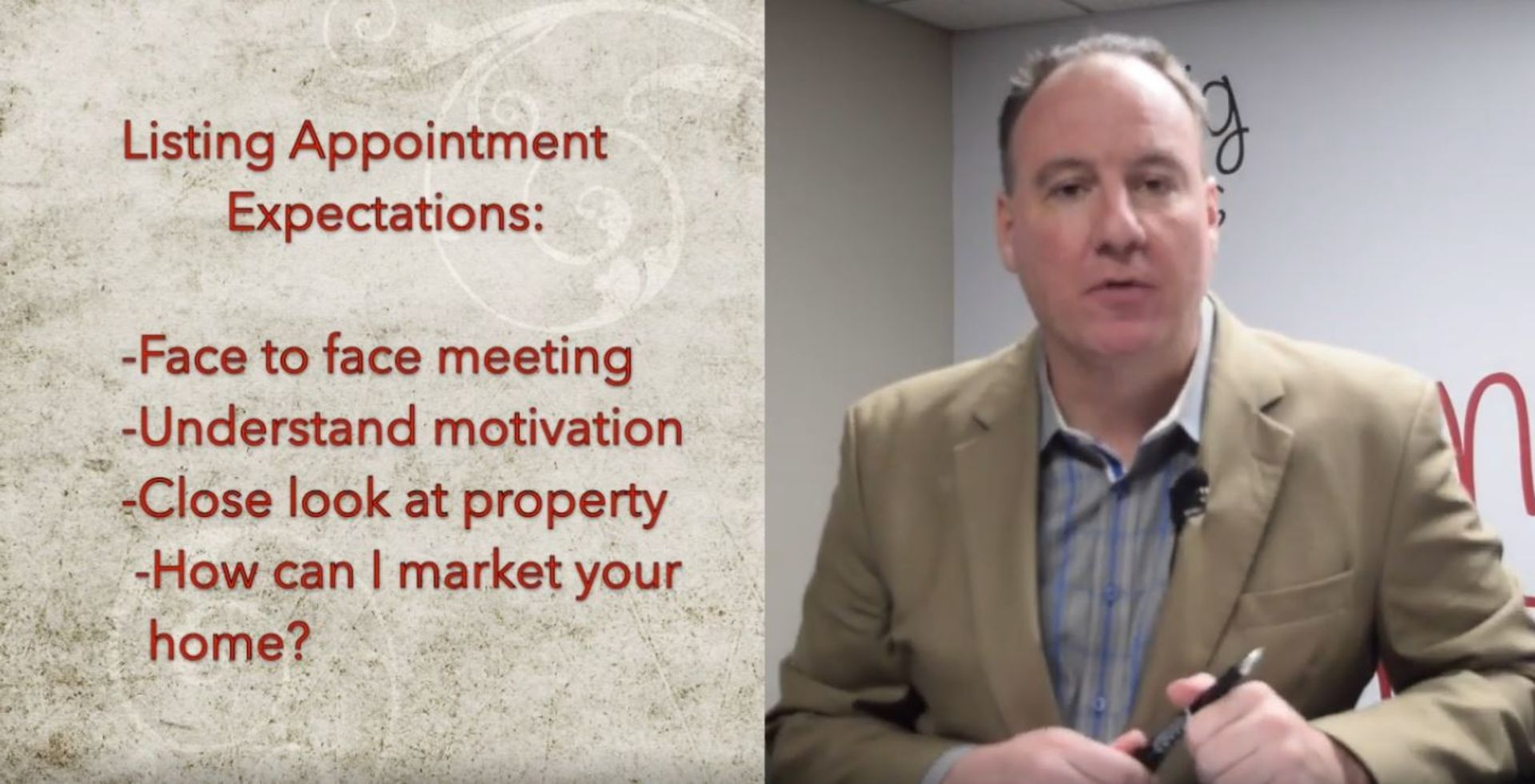 What to expect at a listing appointment