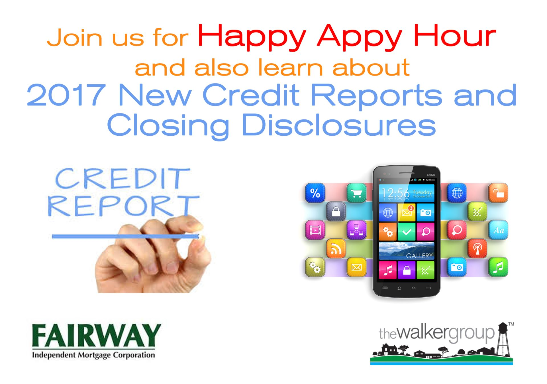 Happy Appy Hour and NEW 2017 Credit Reports Class