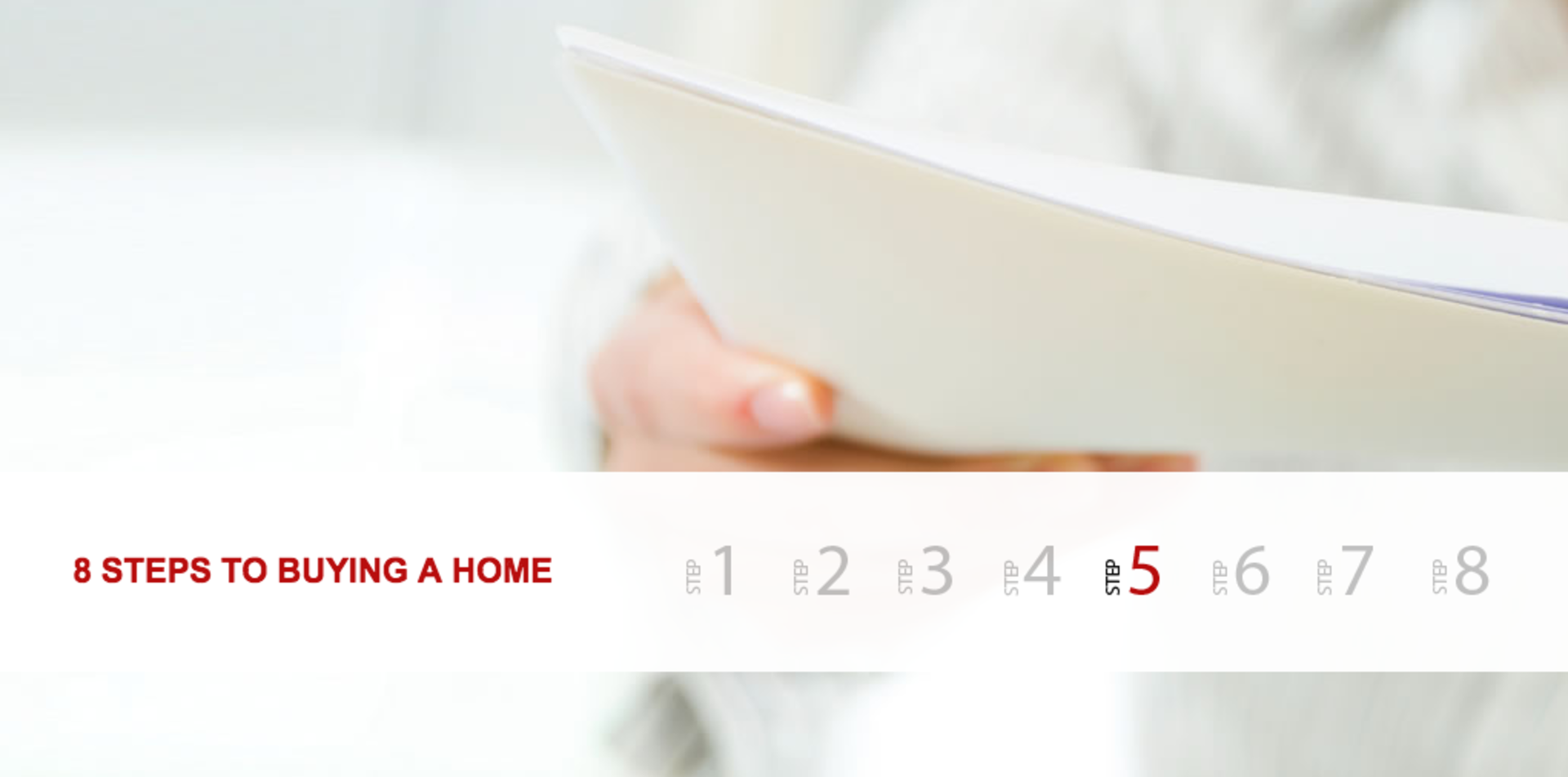Eight Steps to Buying a Home – Step 5