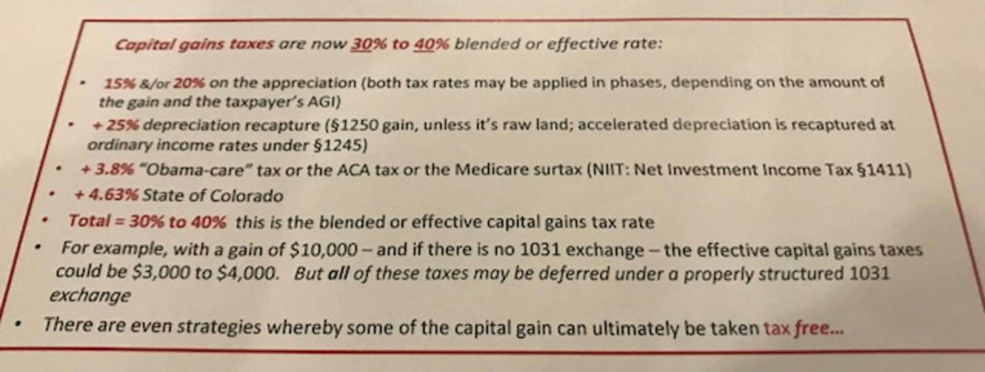 Capital Gains UPDATES Explained …