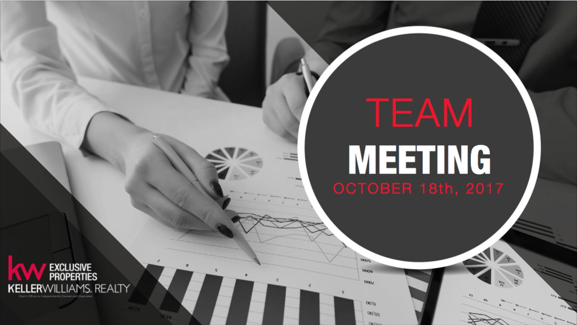 Team Meeting 10-18-17