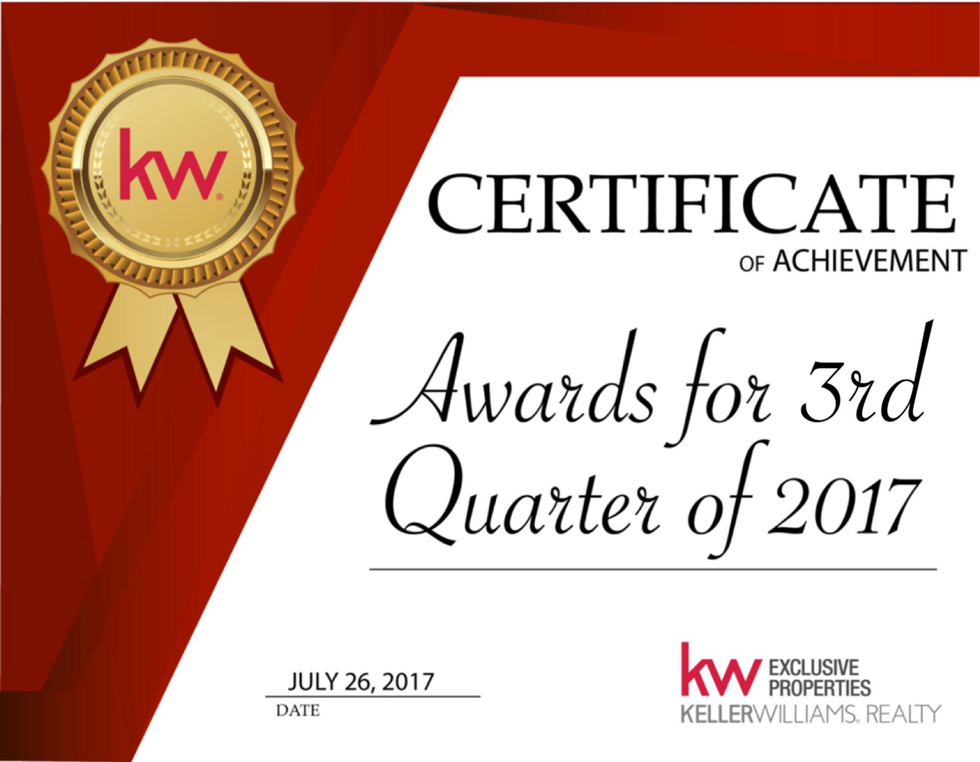 Quarter 3 Awards Meeting